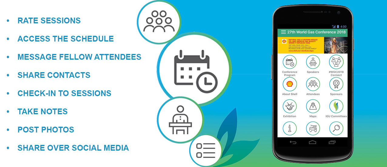 WGC 2018 Event App – World Gas Conference 2018